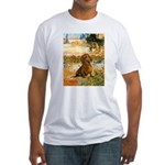Garden (VG) & Dachshund Fitted T-Shirt