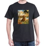 Garden (VG) & Dachshund Dark T-Shirt