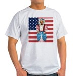 Dachshund Patriotic Dog Tiger Light T-Shirt