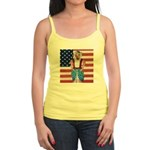 Dachshund Patriotic Dog Tiger Jr. Spaghetti Tank