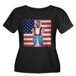 Dachshund Patriotic Dog Tiger Women's Plus Size S