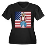 Dachshund Patriotic Dog Tiger Women's Plus Size V