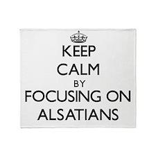 Keep calm by focusing on Alsatians Throw Blanket