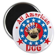 Patriotic Pug Magnet