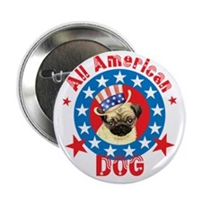 Patriotic Pug Button