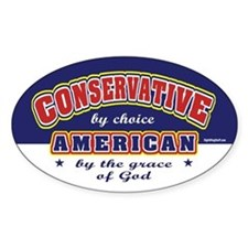 Conservative American Oval Decal