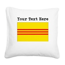 Custom Old South Vietnam Flag Square Canvas Pillow