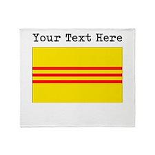 Custom Old South Vietnam Flag Throw Blanket