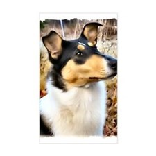 I love Smooth Collies Rectangle Decal