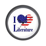 American Literature Wall Clock