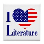 American Literature Tile Coaster