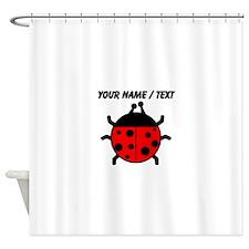Custom Ladybug Shower Curtain