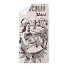 Maui, Hawaii Vintage Travel Poster Beach Towel
