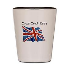 Custom United Kingdom Flag Shot Glass