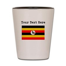 Custom Uganda Flag Shot Glass