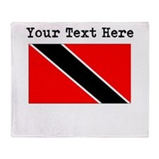 Custom Trinidad And Tobago Flag Throw Blanket