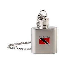 Custom Trinidad And Tobago Flag Flask Necklace
