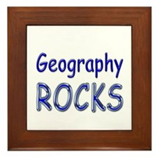Geography Rocks Framed Tile