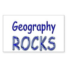 Geography Rocks Rectangle Decal