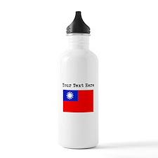 Custom Taiwan Flag Water Bottle
