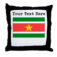 Custom Suriname Flag Throw Pillow
