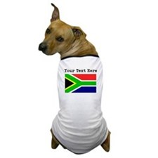 Custom South Africa Flag Dog T-Shirt