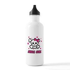 Skull Girl Sports Water Bottle