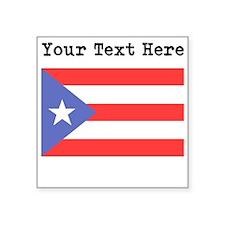 Custom Puerto Rico Flag Sticker