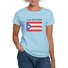 Custom Puerto Rico Flag T-Shirt