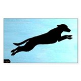 Dock Jumping Labrador Dog Rectangle Decal