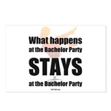 Bachelor party Postcards (Package of 8)