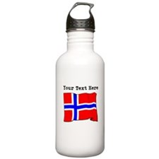Custom Norway Flag Water Bottle