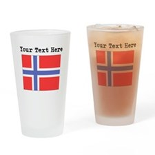 Custom Norway Flag Drinking Glass