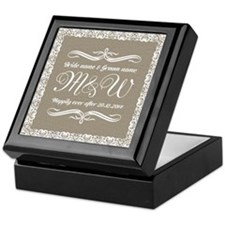 Bride And Groom Monogrammed Keepsake Box