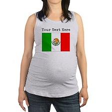 Custom Mexico Flag Maternity Tank Top