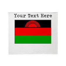 Custom Malawi Flag Throw Blanket