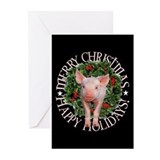 Pig christmas cards Greeting Cards (20 Pack)
