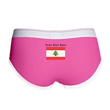 Custom Lebanon Flag Women's Boy Brief