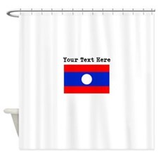 Custom Laos Flag Shower Curtain