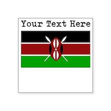 Custom Kenya Flag Sticker