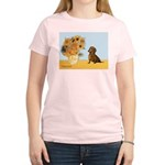 Sunflowres / Dachshund Women's Light T-Shirt