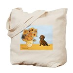 Sunflowres / Dachshund Tote Bag