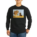 Sunflowres / Dachshund Long Sleeve Dark T-Shirt