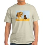 Sunflowres / Dachshund Light T-Shirt