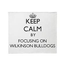 Keep calm by focusing on Wilkinson B Throw Blanket