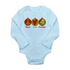 Unique Christmas peace Long Sleeve Infant Bodysuit