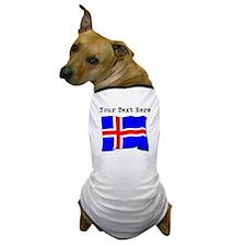 Custom Iceland Flag Dog T-Shirt