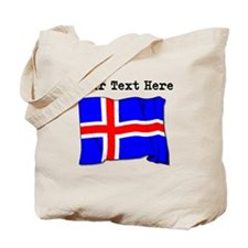 Custom Iceland Flag Tote Bag