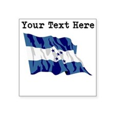 Custom Honduras Flag Sticker
