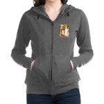 Snow White and Rose Red_purple.png Women's Zip Hoo